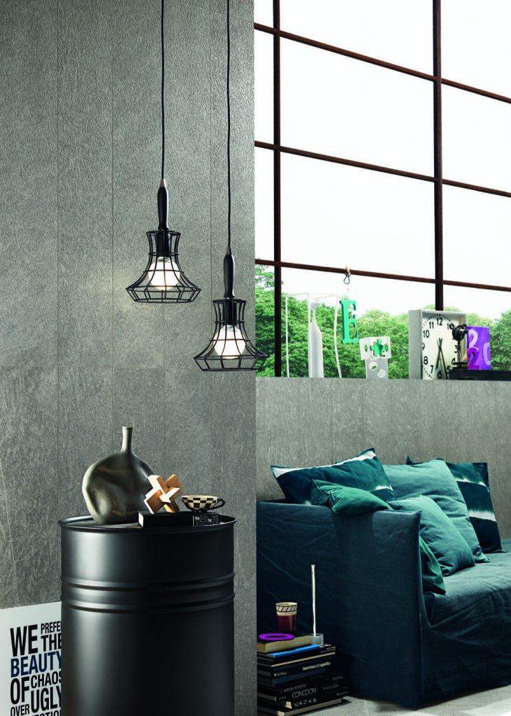 Foto von Fliesenkombination im Wohnraum